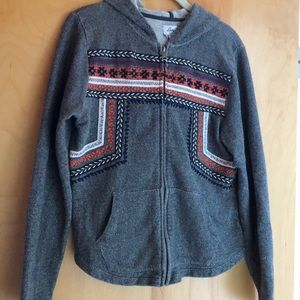 Lucky Brand Lucky Lotus embroidered jacket size L
